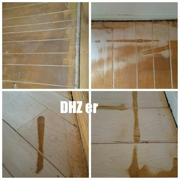 Houten vloer schuren, geschuurd door een dhz er