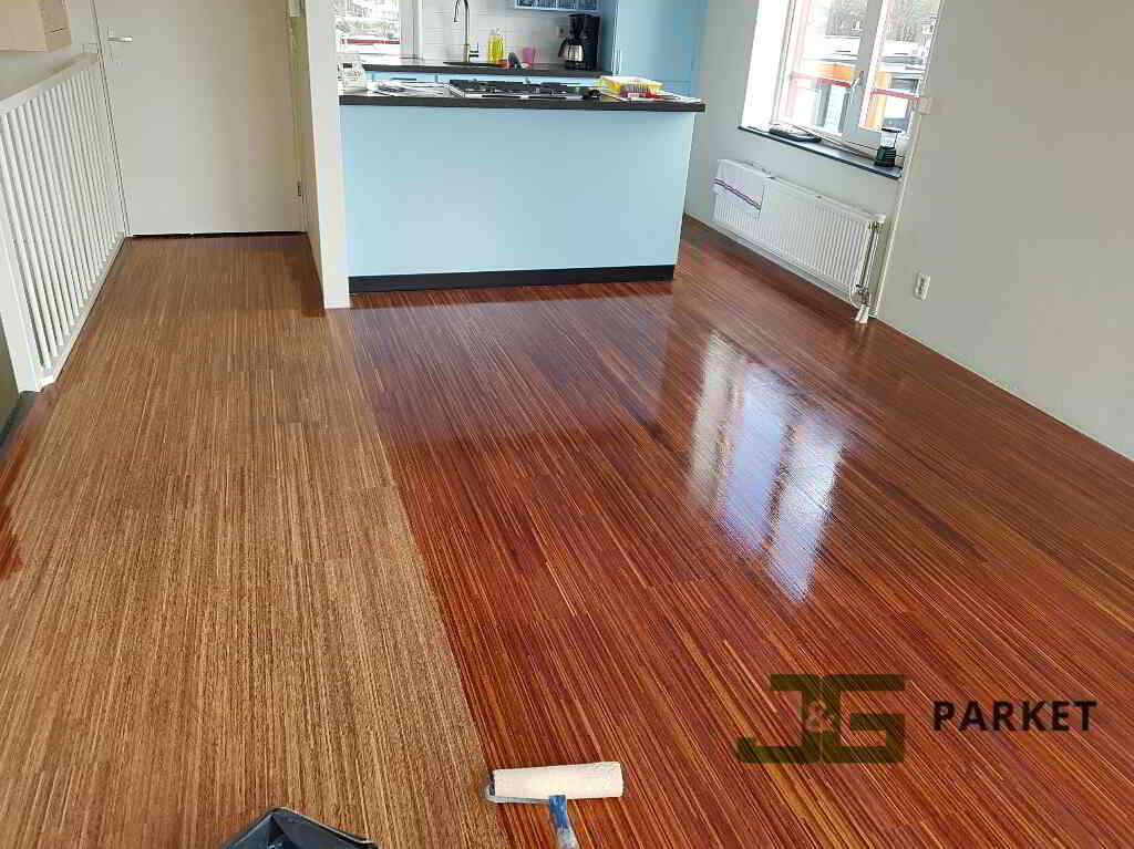 Speciale houten vloer geschuurd gelakt jeng parket