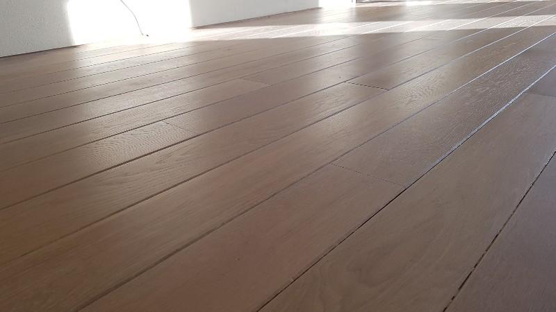 Eiken vloer geschuurd white wash