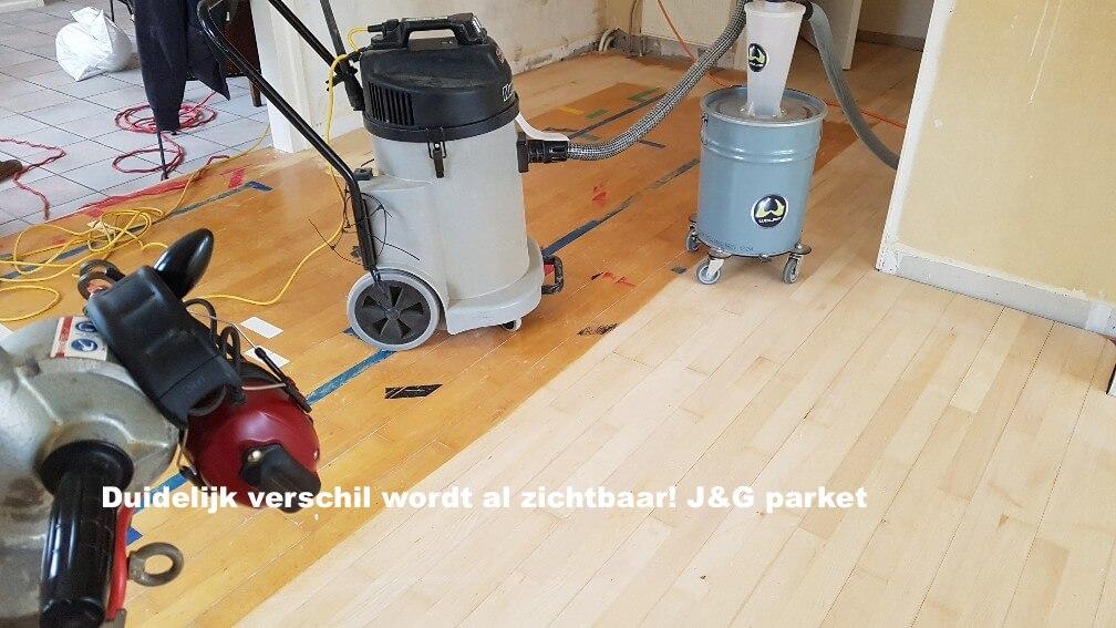 Stofvrij houten vloer schuren, alles schoon en netjes!